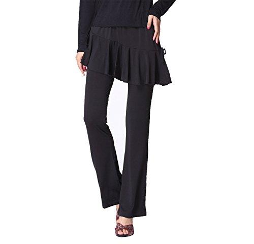 Mujeres Belly Culottes Dance Pantalones Dancewear Elastic Trousers Dance Clothes Ladies Black