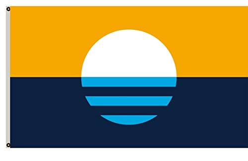 Ahaylyn 3x5 Ft People's Flag of Milwaukee Flag Banner,Sunrise Over The Lake ()