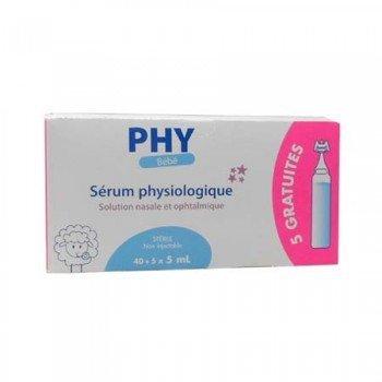 Suero Fisiológico PHY Bebé Monodosis 45 uds x 5 ml: Amazon.es: Salud y cuidado personal
