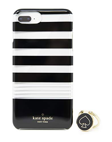 Kate Spade Case & Ring Stand for iPhone 8 Plus/7 Plus/6s Plus - Clear/BLK -