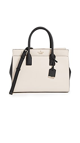 Kate Spade New York Women's Cameron Street Candace Satchel, Tusk/Black, One Size (Kate Spade Black And White)