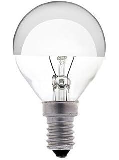 Ampoule LED à filament Sphérique E14 4W Calotte argentée Girard ...