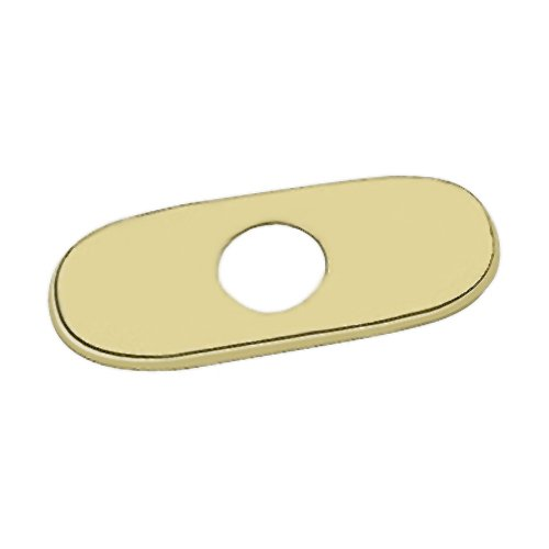Grohe 07 551 R00 6-Inch Euro Escutcheon Plate For Covering Unused Mounting Holes, Polished Brass by GROHE (Image #1)