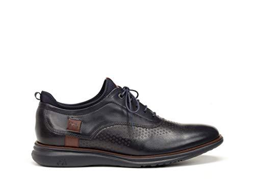 Sport 202 Azul Piel Plantilla Marino Zapatos Cordones Hombre Color Fluchos 9844 Marino Con Extraible AwF7f6dq