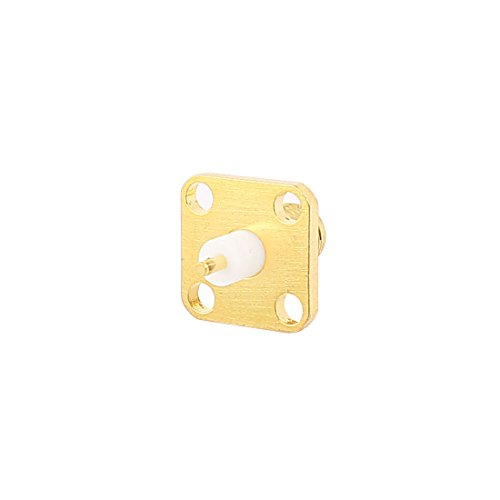 Aexit Female SMA Audio Cables Jack to 4-Hole Flange Panel Mounting Coaxial Digital Coaxial Cables RF Connector