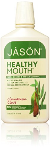Jason Natural Healthy Mouth Tartar Control Mouthwash, Cinnamon Clove, 16 Ounce (Pack of 2)