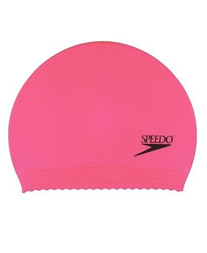 Speedo Latex Solid Swim Cap, Pink, One Size