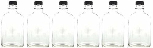 Home Brew Ohio 200 ml Glass Flask with Poly Seal Cap-6Count