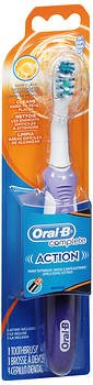 Oral-B Complete Action Power Toothbrush Deep Clean Soft – One Each, Pack of 4