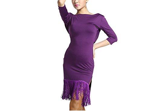 Adult Practice Women Dance Dance Style Wear Costume Dress Performance Purple Latin New Dance Latin v8rqvwBC