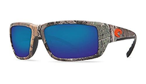 Costa Fantail Sunglasses Realtree Xtra Camo / Blue Mirror Glass 580G & Neoprene Classic - Costa Camo 580g Fantail