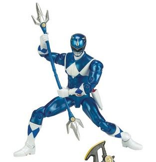 (Mighty Morphin Power Rangers Legacy Collection Limited Edition 6.5 Inch Blue Ranger with Metallic Finish and Exclusive Weapons)