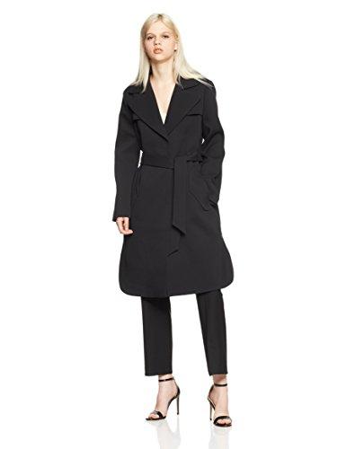 A|X Armani Exchange Womens 6ZYL03YNEAZ Mid Length Trench Coat with Waist Tie Down Alternative Coat Black