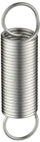 - Extension Spring, 302 Stainless Steel, Inch, 0.5