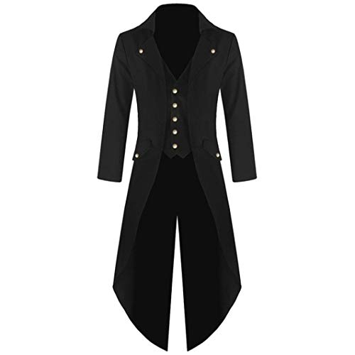 Clearance Sale! Wintialy Men's Coat Tailcoat Jacket Gothic Frock Coat Uniform Costume Praty Outwear