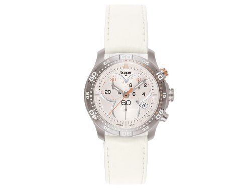 Traser H3 Ladytime Silver Chronograph Ladies Watch T7392.V5H.G1A.08 / 100368