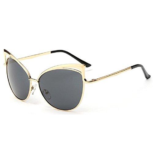Z-P Women's Geek Cateye Metal Frame Soft Colour Anti-UV400 - I Bans Ray Get What Should