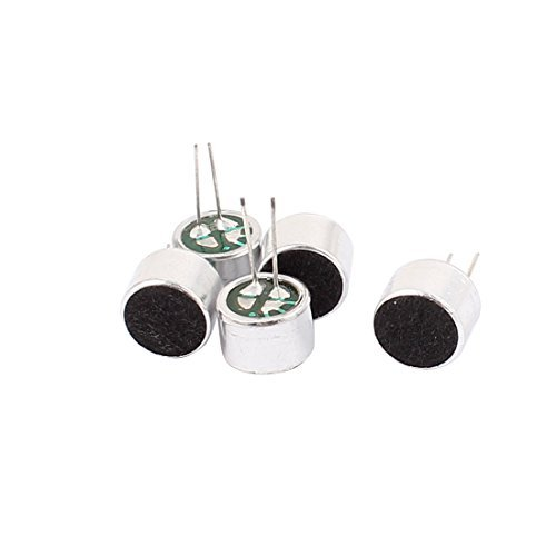 EbuyChX 5 Pcs 10mmx7mm Sa pamamagitan ng Hole Mini Electret Microphone Pampalapot Pickup
