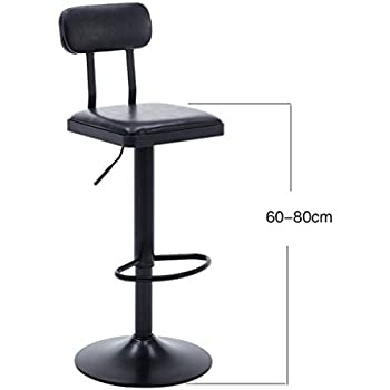 Amazon Com Zhang Retro Bar Stool Kitchen Cafe Dining Chair Comfortable Leather Backrest High Stool Lift Swivel Chair Color 2 Kitchen Amp Dining