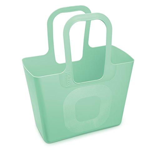 Koziol bolso XL, plástico, 21.5x 44x 54cm, plástico, turquesa, 21.5 x 44 x 54 cm Verde Menta