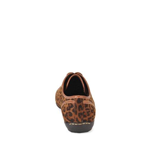 Scarpa Allacciata Sofft Portland Donna Marrone Scuro Leopardata