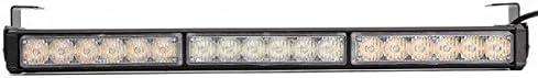 Queenwind 普遍的な12V 108W 6000Kはストロボの警告灯の点滅の仕事のライトバーの白いこはく色を導きました