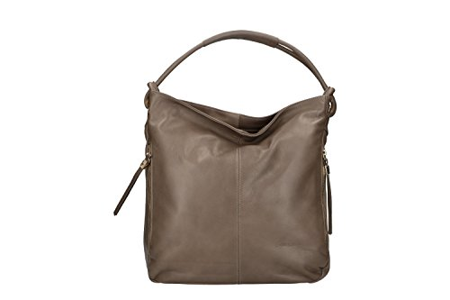 Borsa Donna A Spalla Pierre Cardin Taupe In Pelle Made Italy Vn226