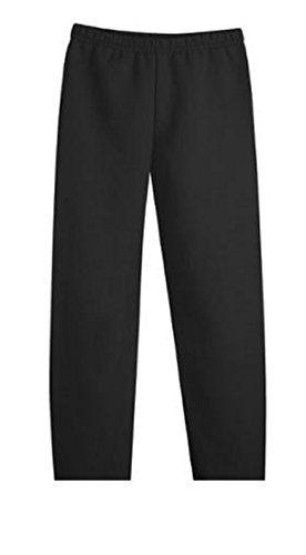 Hanes Girls` Fleece Open Bottom Sweatpants, XS Ebony