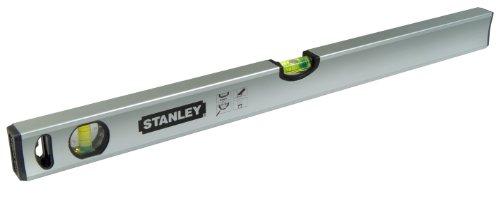 Stanley Wasserwaage Klassik, 40 cm Länge, magnetisch, schlagfeste Blocklibelle, große Seitenlibelle, STHT1-43110