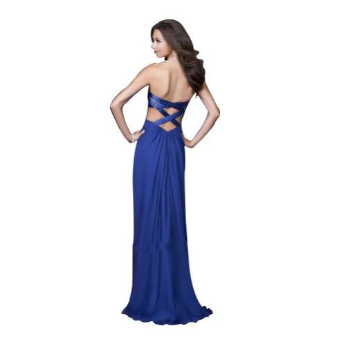 Guertel Blau bodenlangen Abendkleid Corss Zurueck BRIDE GEORGE Spalte Liebsten Mantel xUzw1Yqp