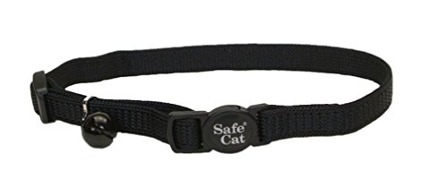 Coastal Pet Products Nylon Safe Cat Adjustable Breakaway Collar with Bells, (Nylon Adjustable Collar)