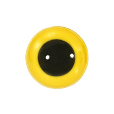 Animal Eyes Yellow - Animal Eyes with Black Centers & Metal Washers 18mm Yellow 4pcs/pkg