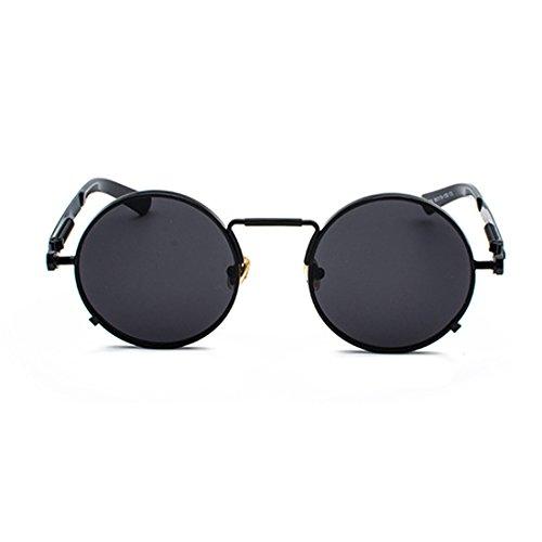 ovales primavera vintage las de de redondas señoras Gafas gafas metal gafas de Yefree Negro 1fH7Yqw0y