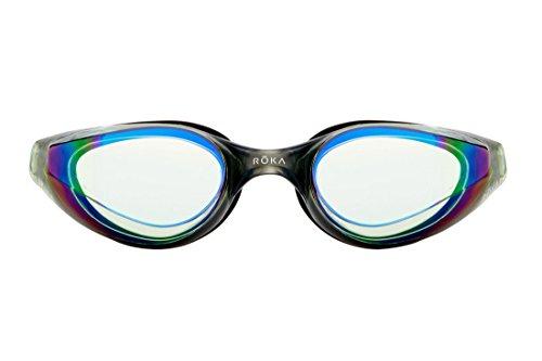 ROKA R1 Anti-Fog Swim Goggles with RAPIDSIGHT Razor Sharp Optics - Jade Mirror - Jade Mirror
