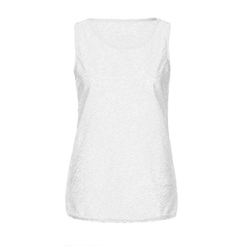 ASHOP Canotta Taglie Senza Gilet Estivo Top Maglietta Maniche Donna Abbigliamento Donna Abbigliamento Shirt Bianco Donna Forti T q54UnSwxO