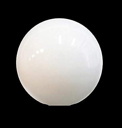 Bola globo cristal blanco brillo 140mm diámetro boca 55mm ...