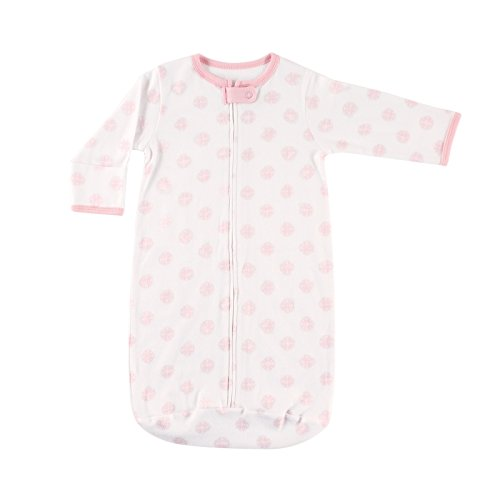 Hudson Baby Unisex Baby Long Sleeve Wearable Sleeping Bag/Blanket, 0-3 Months (3M), Pink Scroll 1-Pack from Hudson Baby