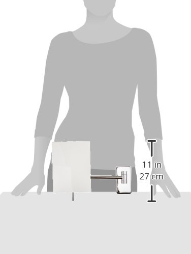 Jerdon 8.75-Inch Mount Makeup Mirror, Chrome