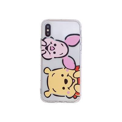 (Ultra Slim Soft TPU Transparent Winnie The Pooh Case for Apple iPhone Xs Max Clear Bear Piglet Pink Piggy Pig Walt Disney Cartoon Disneyland Cute Lovely Protective Kawaii Kids Teens Girls Daughter)