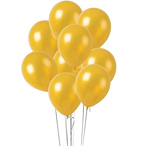 12 inches Gold Color Latex Balloons Party Decoration Accessories & Party Favors(Pack of -