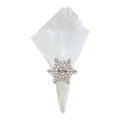 Snowflake Napkin Rings (Snowflake Napkin Ring Set of)