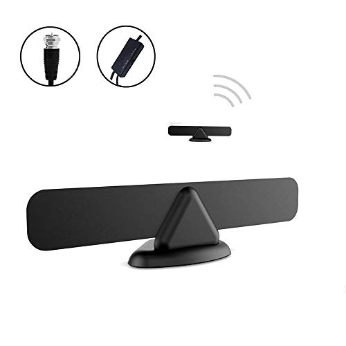 Antess Digital Indoor Tv Antenna AN-1015 - Amplified 60 120 Miles Range Support 4K 1080p and Older TV's 9.8ft Coax Cable/USB Power Adapter Black [Newest 2019] (Best Direction For Digital Antenna)