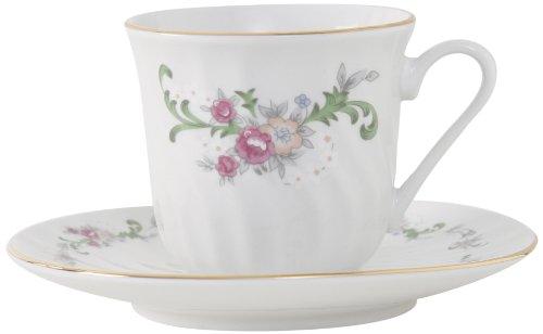 Ciera Celestine Porcelain Tea Cup and Saucer with Gold Tr...