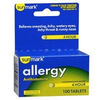 UPC 010939217332, Sunmark Sunmark Allergy 4 Hour, 100 tabs