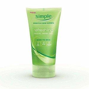 Simple Facial Wash Gel, Refreshing, 5 oz (Pack of 3)