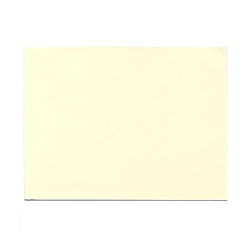 JAM PAPER Blank Flat Note Cards - 4 5/8 x 6 1/4 (Fits in A6 Envelopes) - Ecru - 50/Pack