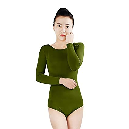 98278d6b4043 Amazon.com: Mink Monk Dance Long Sleeve Gymnastics Leotard Ballet ...