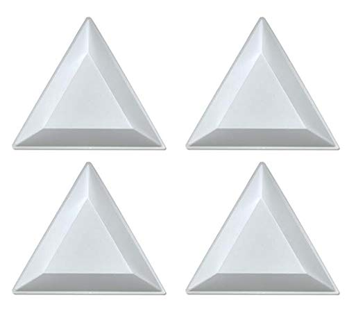 (20 Bead Sorting Trays Triangle White Plastic 3x3x3 Inch)