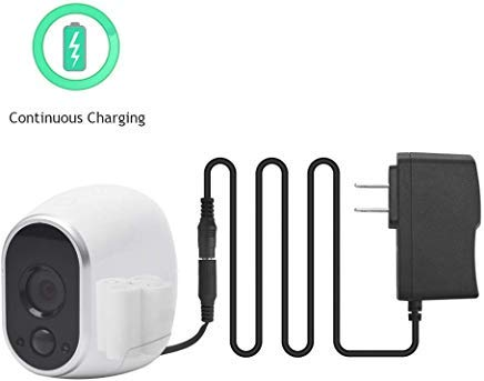(Power Adapter with 16 Feet Cable, Arlo Plug Adapter Compatible with Arlo Camera(Replace CR123A), Weatherproof Outdoor to Continuously Operate Arlo HD Camera(VMC3030, VMS3430))