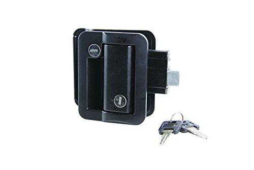 Lippert 239631 Global RV Entry Door Latch Kit for Travel Trailer Black